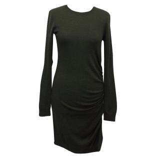 Joseph Dark Green Wool Dress