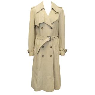 Christian Dior Beige Python Trench Coat