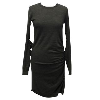 Joseph Grey Wool Knit Dress