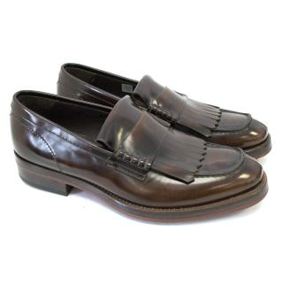Alexander McQueen Brown Leather Loafers