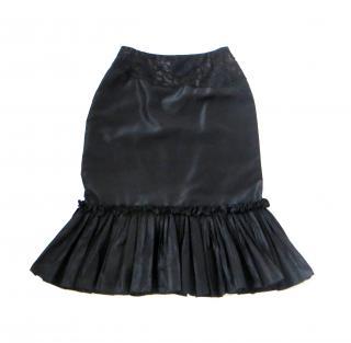 Oscar De La Renta silk-lace Tuille skirt