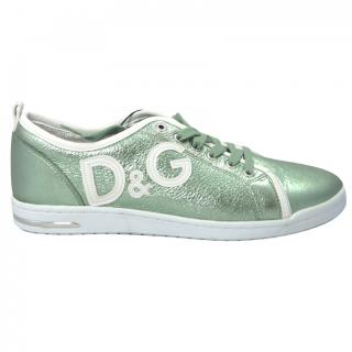 Dolce & gabbana D&G green metalic trainers