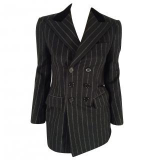 Ralph Lauren black blazer pinstripes