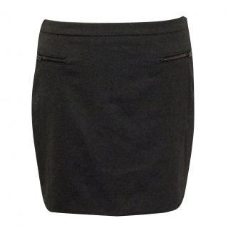 Joseph Grey Wool Skirt