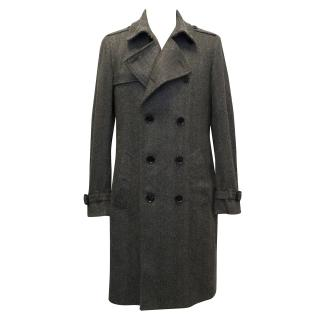 Burberry Wool Herringbone Trench Coat