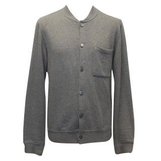 J.Lindeberg Grey Cotton Bomber Jacket