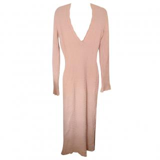 Azzedine Alaia Pink Sweater Dress