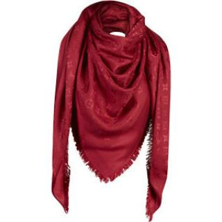 Louis Vuitton Red Monogram Shawl