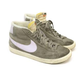 Nike Grey and Lilac High Top Sneakers