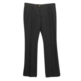 Dolce & Gabbana Charcoal Grey Wool and Cashmere Blend Trousers