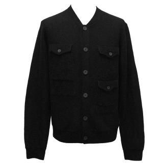 J. Lindeberg Black Wool Cardigan