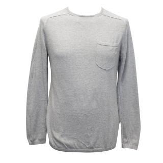 J. Lindeberg Light Grey Cotton Blend Jumper