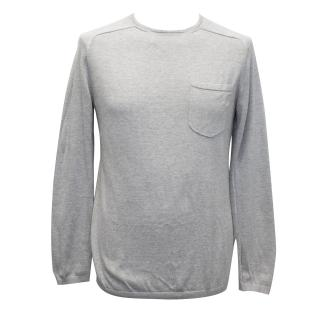 J. Lindeberg Light Grey Cotton Blend Jumper