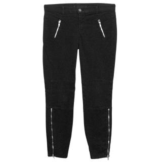 J Brand Black Carey Zip Moto Jeans