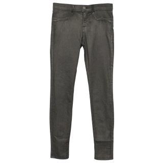 JBrand Super Skinny Coated Grey Jeans
