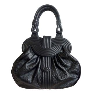 Lara Bohinc Lunar Eclipse Printed Ostrich Leather handbag