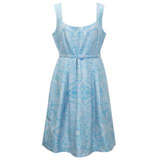 Jonathan Saunders Blue Printed Dress