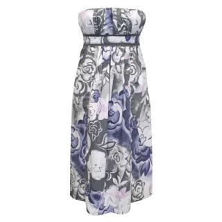 Fendi Strapless Floral Dress