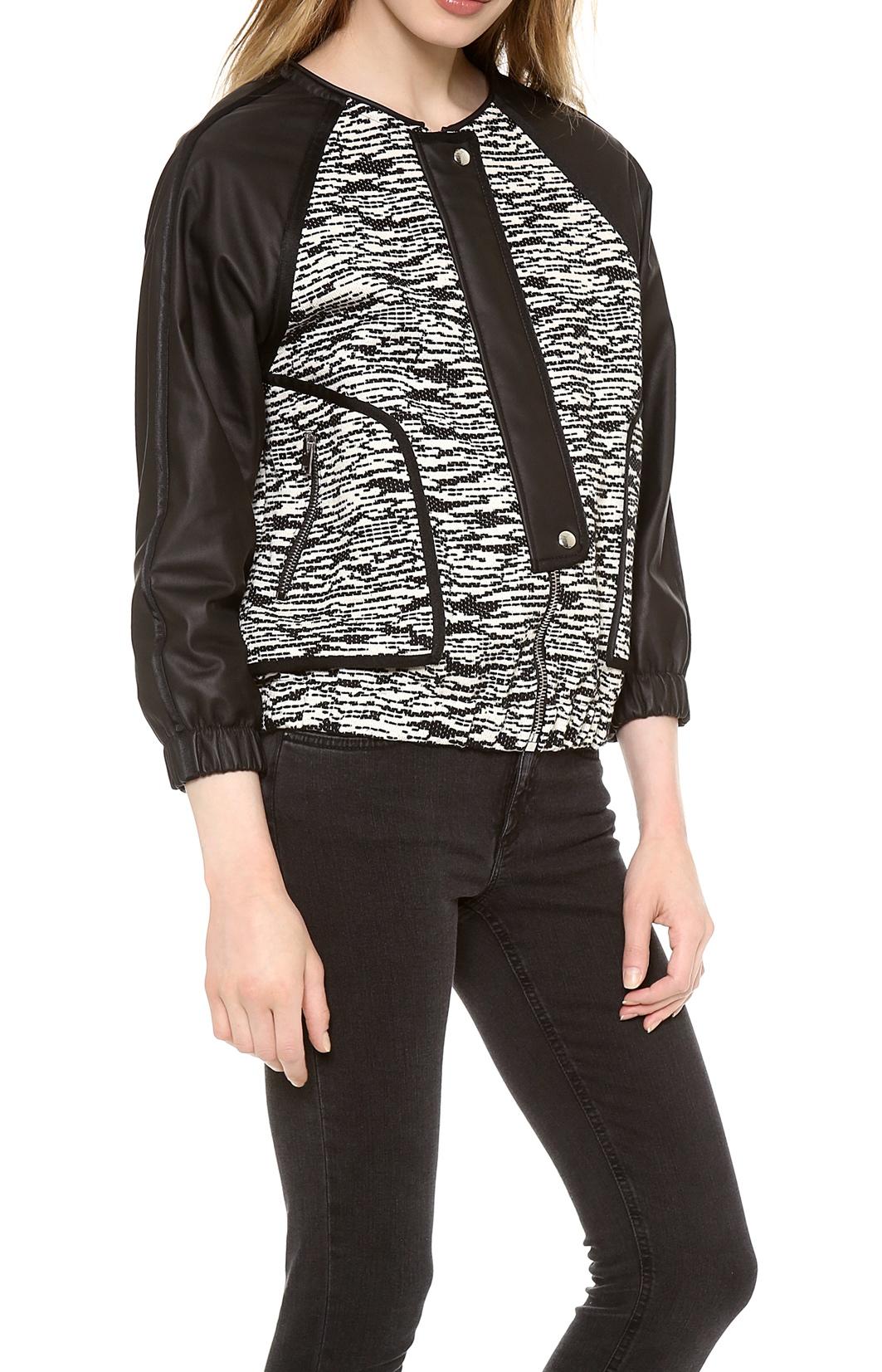 Iro Leather & Tweed jacket