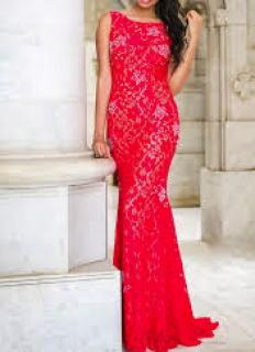 Jovani red evening floor length dress