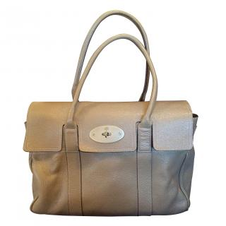 Mulberry Bayswater Pebble leather khaki bag