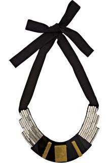 Oscar de la Renta beaded bib necklace