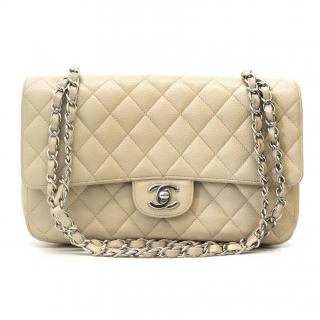 Chanel Beige Single Medium Flap Bag