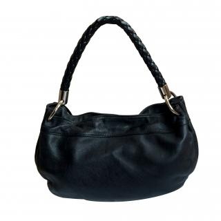 Furla matt black leather bag