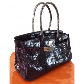 Hermes Birkin Shoulder Croco-Poro Amethyst New with receipt