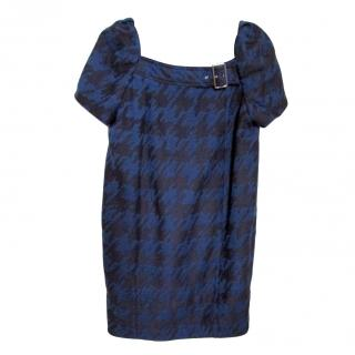 Marc by Marc Jacobs Scribble Houndstooth Dress (Blue/Black)