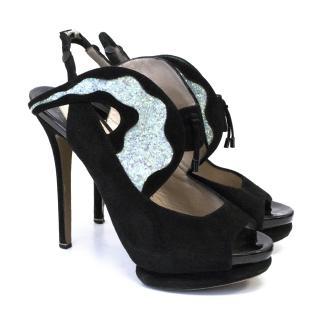 Nicholas Kirkwood Black Suede Sandals