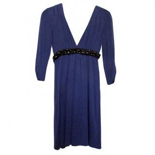 Vera Wang Lavender Beaded Jersey Dress