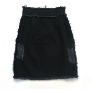Christopher Kane denim frayed Skirt