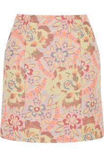 Erdem Adele floral-jacquard skirt