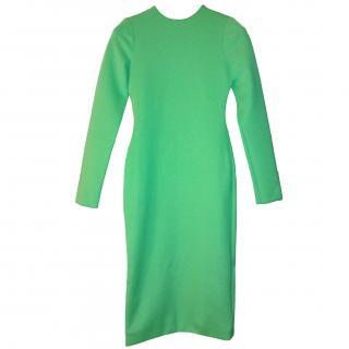 Aqua electric green pencil dress