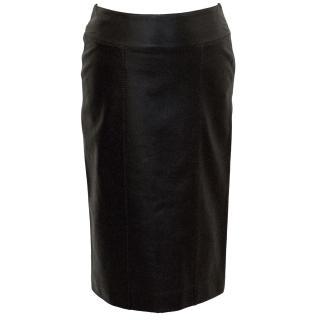 Yves Saint Laurent Brown Leather Skirt