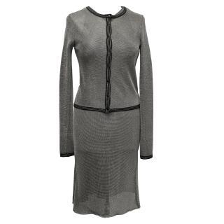 Alaia Silver Mesh Dress & Cardigan