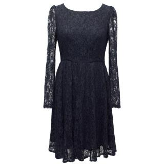 Ghost Navy Lace Dress