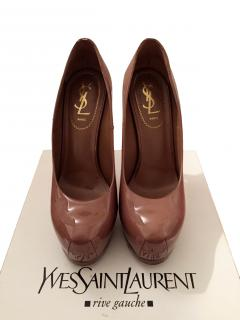 Ysl Saint Laurent Nude Patent Trib Too Shoes Heels