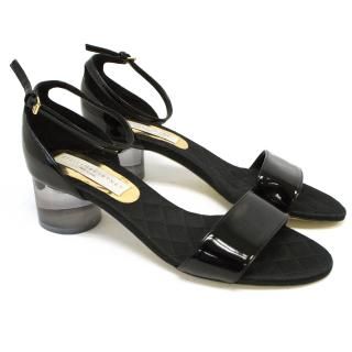Stella McCartney Black Patent Sandals