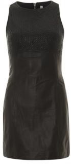 Walter Baker Black Leather Lolita Dress.