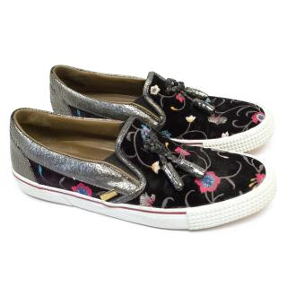 Jimmy Choo Embroidered Slip ons