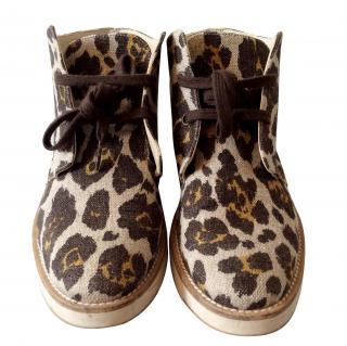 Stella McCartney lace up canvas boots