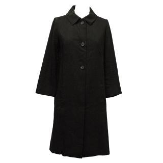 Chloe Black Linen Cacoon Coat