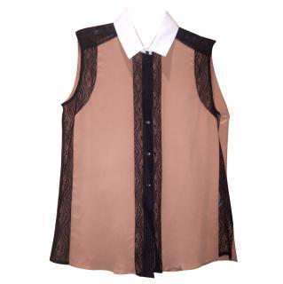 Sandro Collar Sleevless Shirt