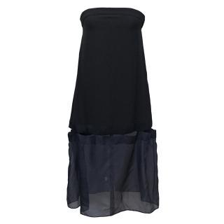 Stella McCartney Benni crepe and silk organza dress
