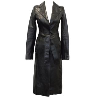Dolce and Gabbana Leather belted trench coat