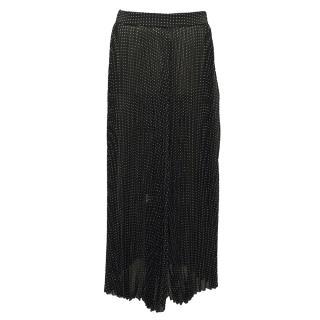 Joseph forest green pleated skirt