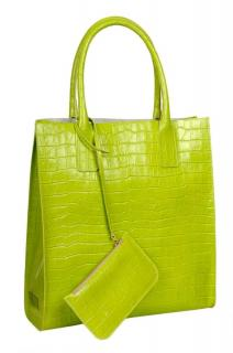 Alia Green Croc Embossed Bag