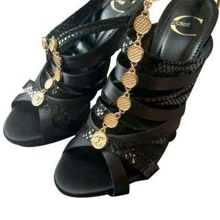 Just Cavalli Black Sandals